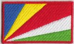 Seychelles Embroidered Flag Patch, style 04.